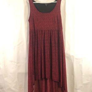 Torrid High Low Red Cheetah Dress